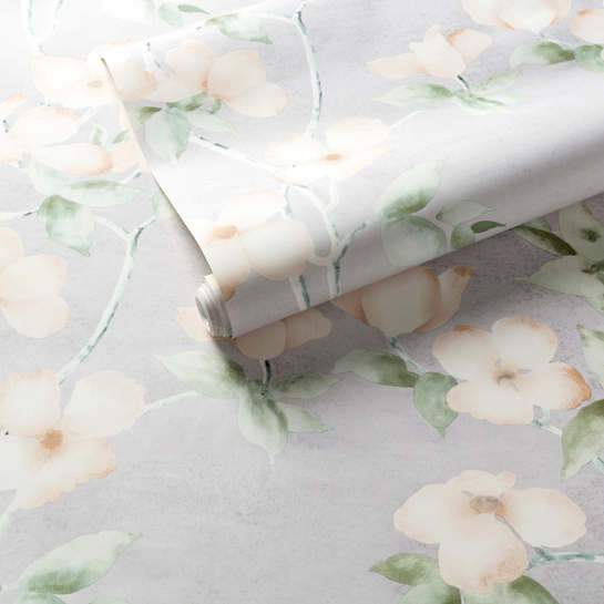 Dogwood Celadon Wallpaper