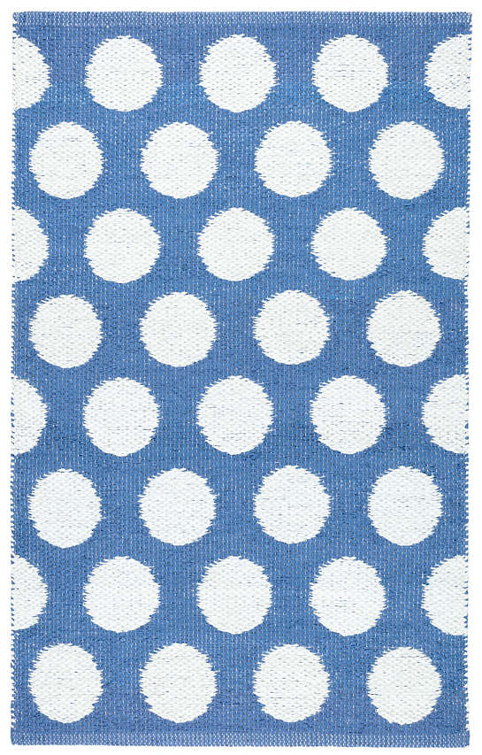 Dot French Blue Indoor/Outdoor Rug
