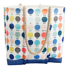 Dot Stripe Medium Tote