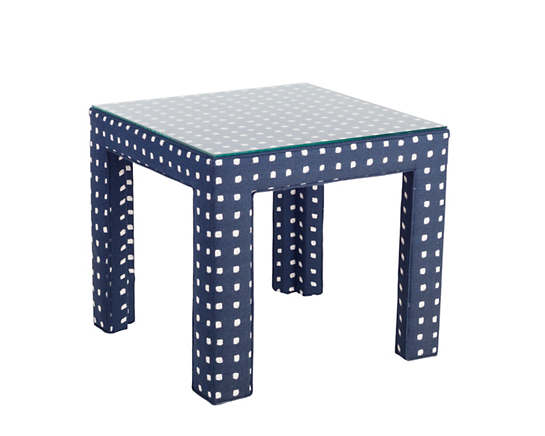 Dots Indigo Side Table