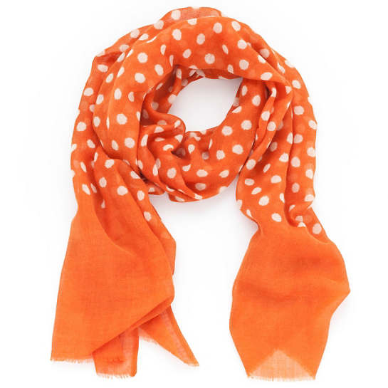 Dots Orange Scarf
