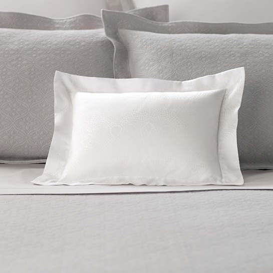 Dots White Decorative Pillow