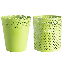 Dottie Green Wastebasket
