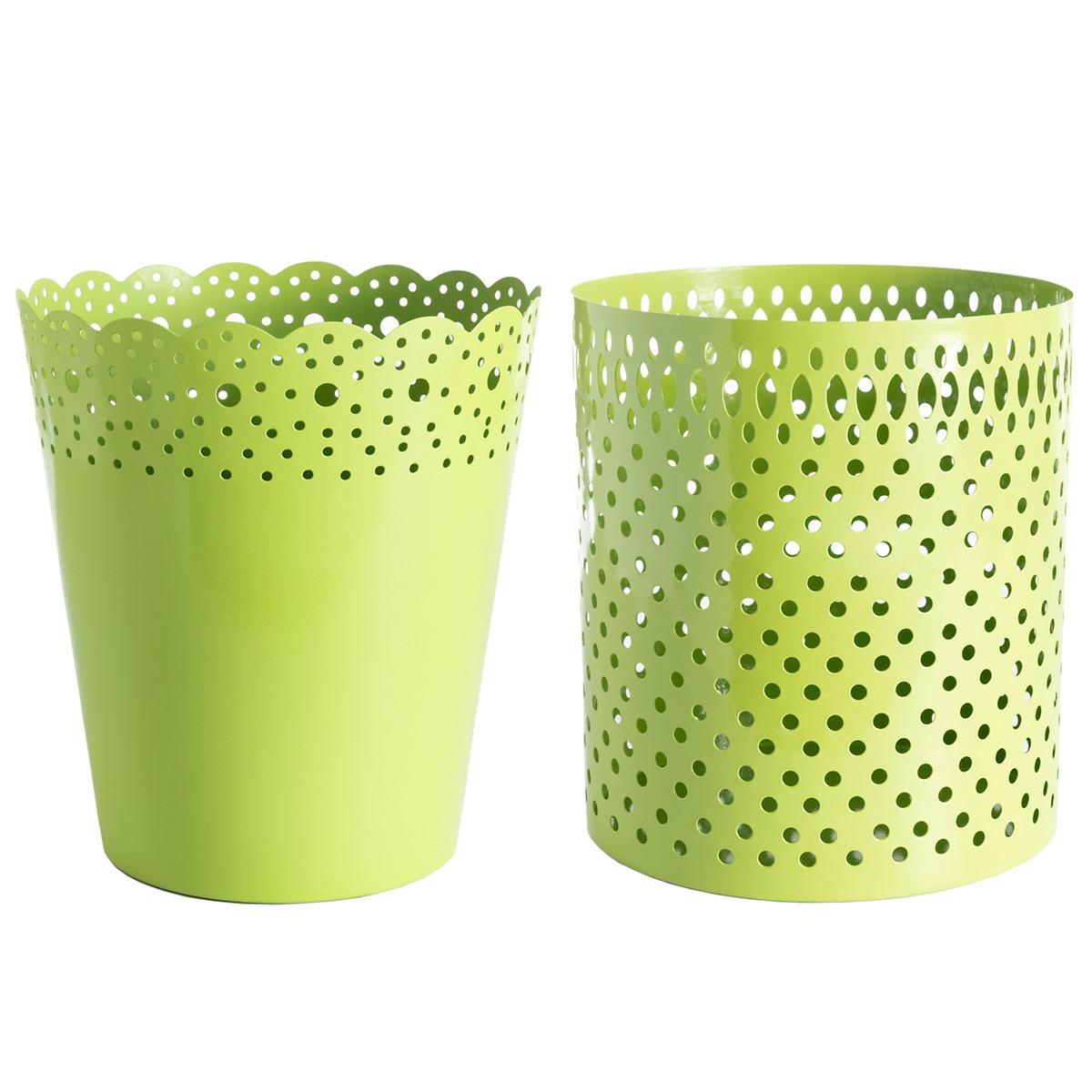 Dottie Green Wastebasket