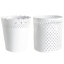 Dottie White Wastebasket