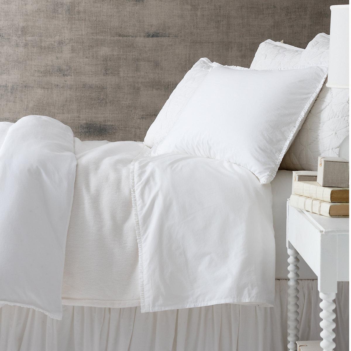 Dover White Fleece Blanket Pine Cone Hill