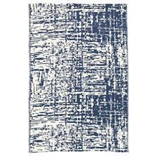 Drybrush Blue Woven Cotton Rug