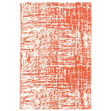 Drybrush Orange Woven Cotton Rug
