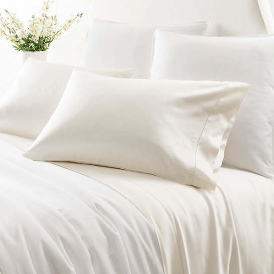 Duchess Sateen Ivory Fitted Sheet