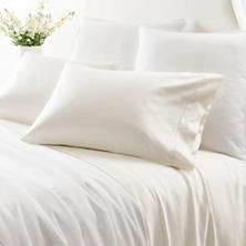 Duchess Sateen Ivory Flat Sheet