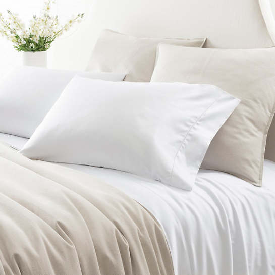Duchess Sateen White Flat Sheet