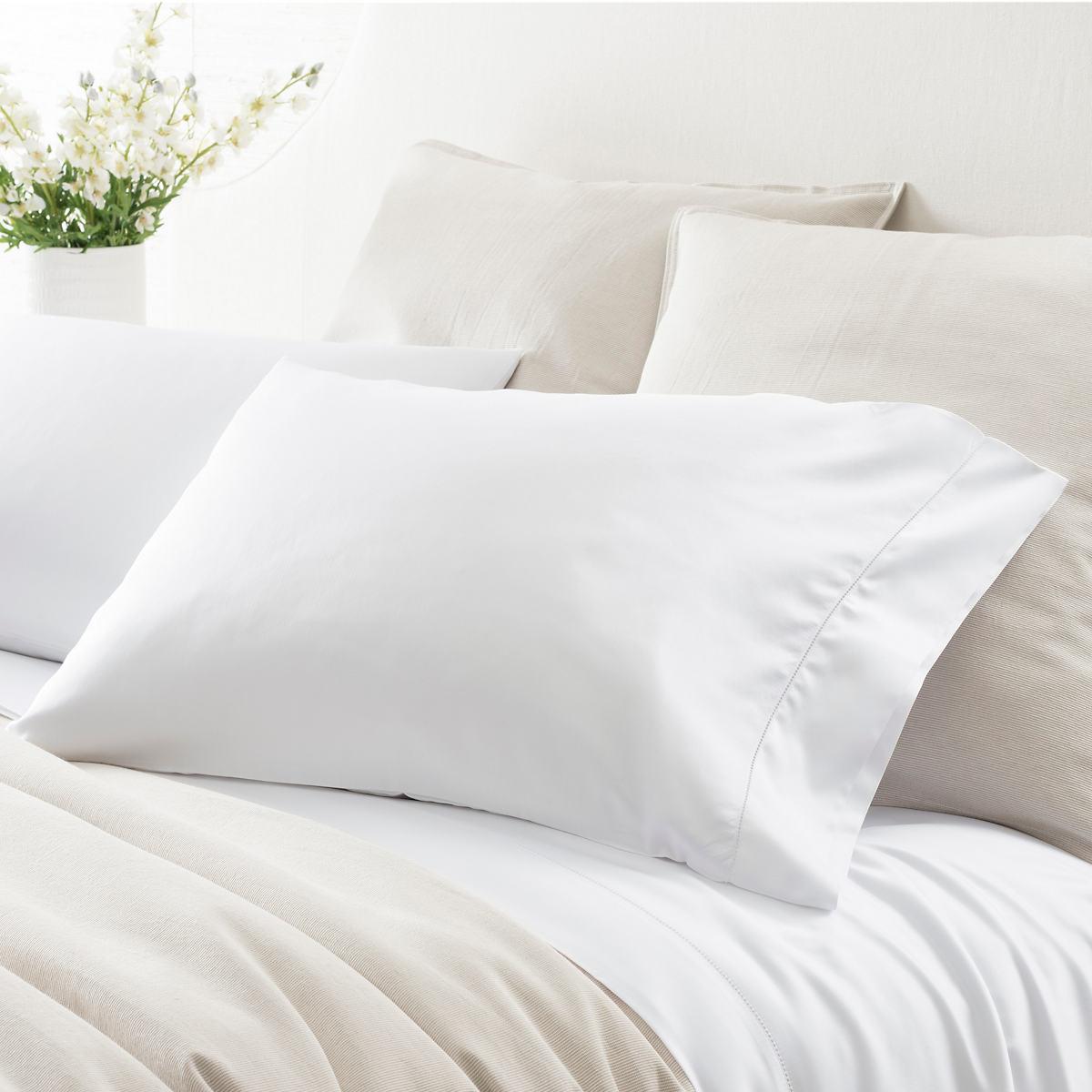 Duchess Sateen White Pillowcases
