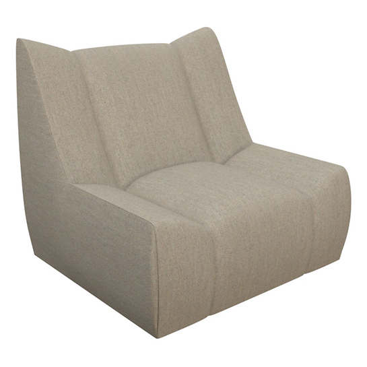 Sunbrella Platinum Heathered Dune Chair