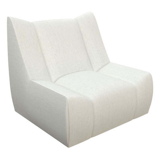 Sunbrella Linen White Canvas Dune Chair