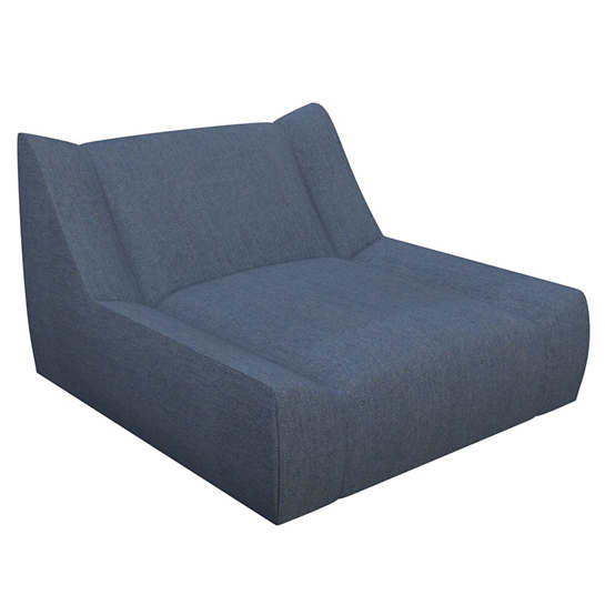 Sunbrella Denim Heathered Dune Chaise