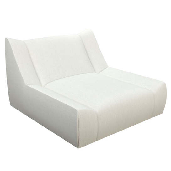 Sunbrella Linen White Canvas Dune Chaise