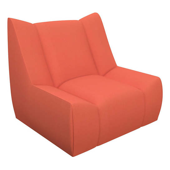 Sunbrella Tangerine Canvas Dune Chair