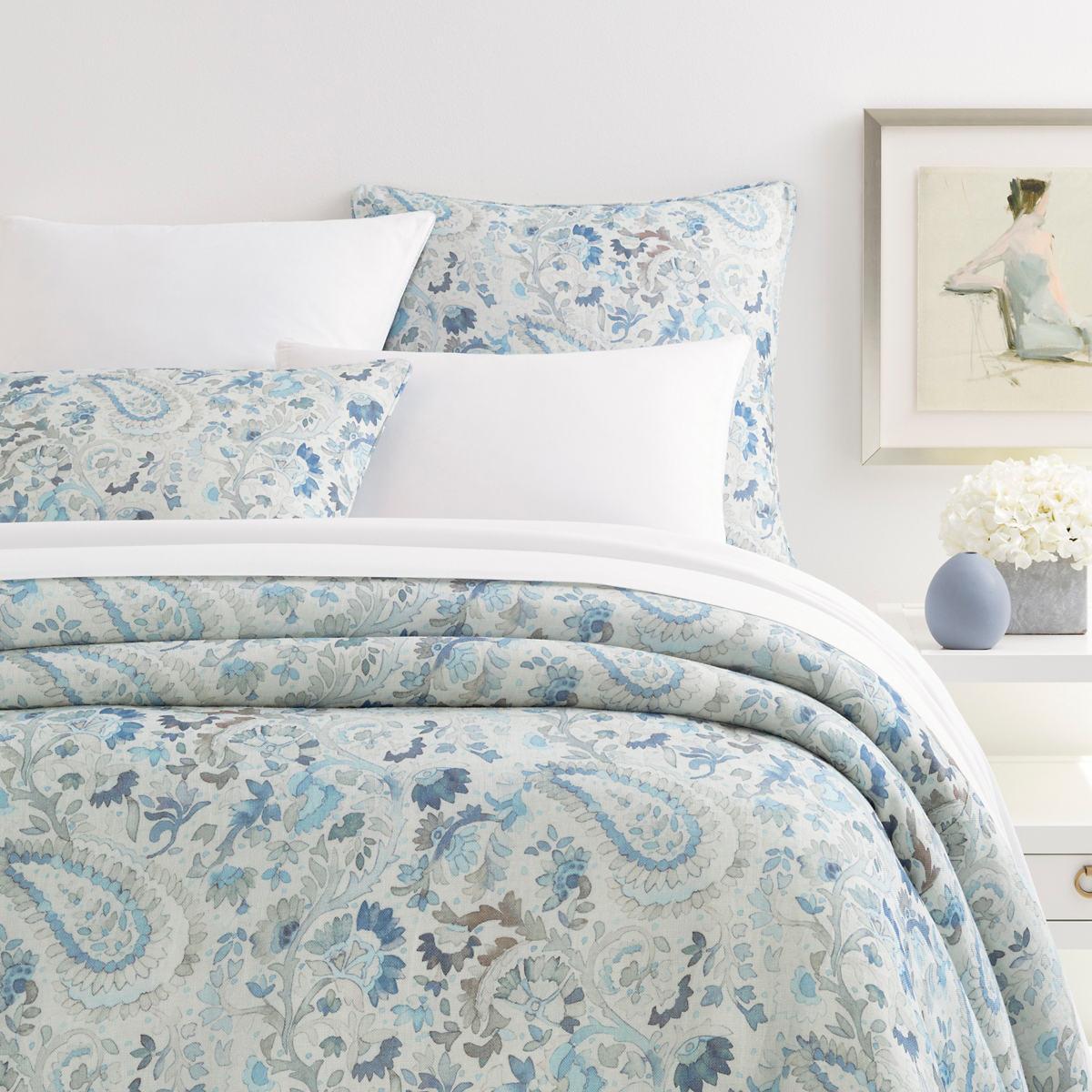 Ines Linen Blue Duvet Cover