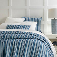 Mediterranean Ticking Linen Duvet Cover