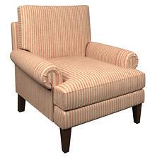 Adams Ticking Brick Easton Chair