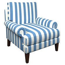 Alex French Blue Easton Chair