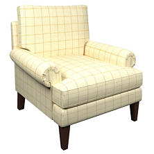 Chatham Tattersall Gold/Natural Easton Chair