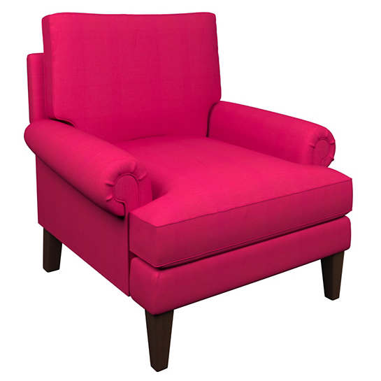 Estate Linen Fuchsia Easton Chair
