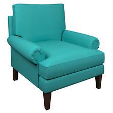 Estate Linen Turquoise Easton Chair
