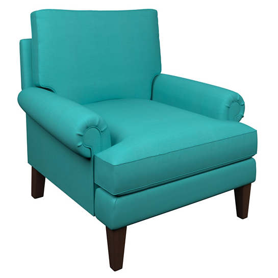 Estate Linen Turquoise Easton Chair