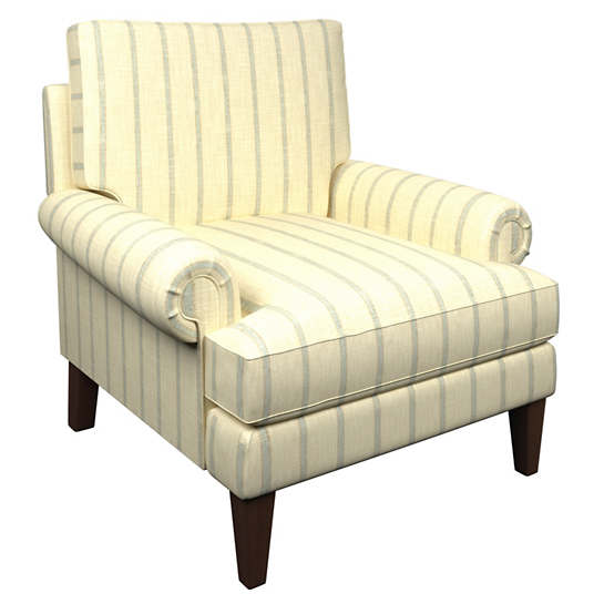 Glendale Stripe Light Blue/Natural Easton Chair
