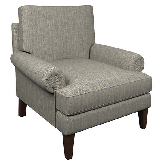Chevron Indigo Easton Chair