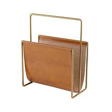 Edward Leather Ochre Magazine Rack