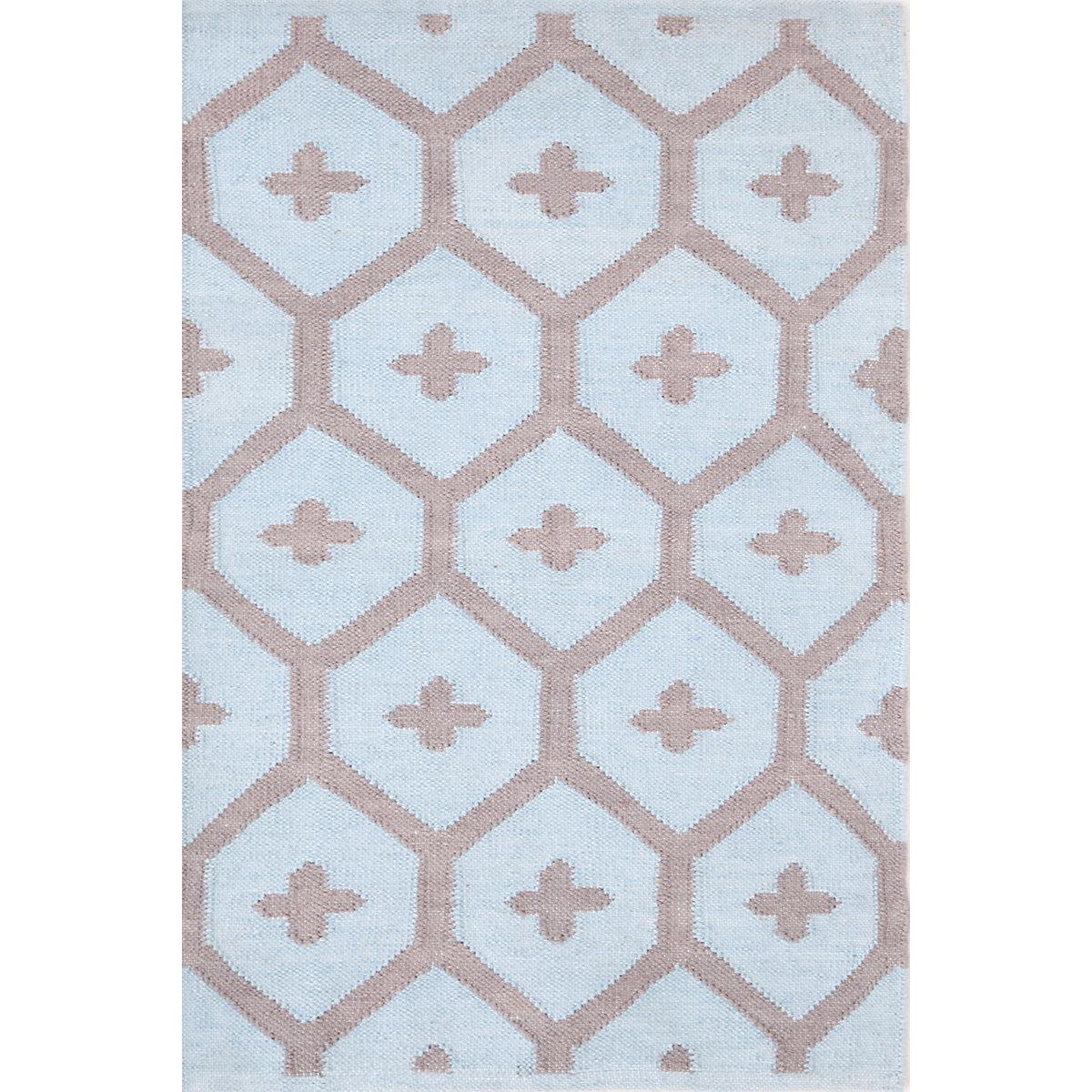 Elizabeth blue indoor outdoor rug dash albert for Blue indoor outdoor rug