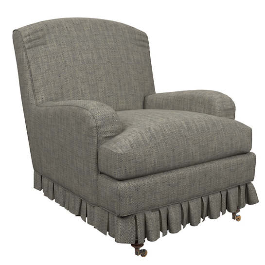 Chevron Indigo Ellis Chair