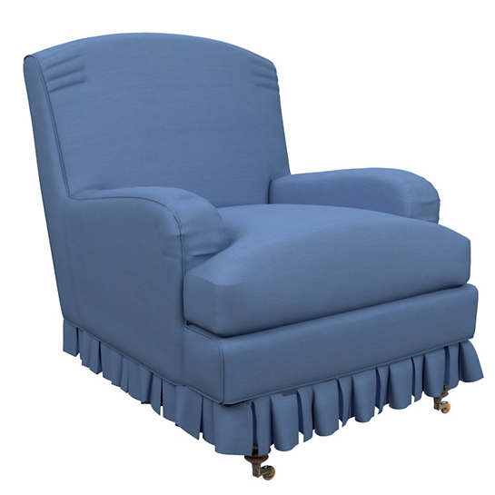 Estate Linen French Blue Ellis Chair