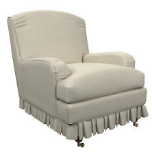 Estate Linen Pearl Grey Ellis Chair