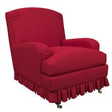 Estate Linen Red Ellis Chair