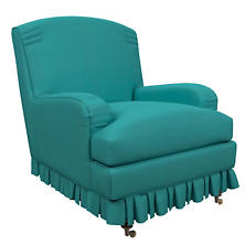 Estate Linen Turquoise Ellis Chair