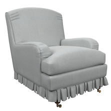 Pinstripe Navy Ellis Chair