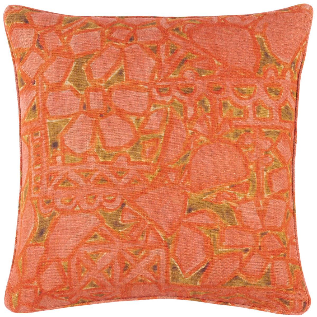 Elwood Linen Pink Decorative Pillow
