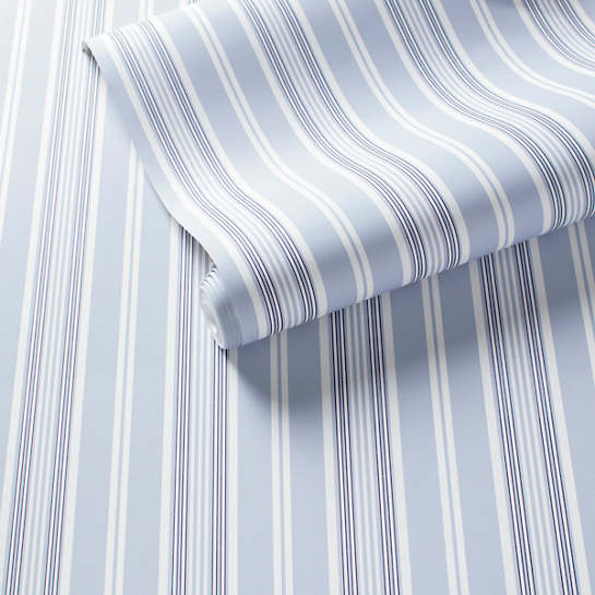 Emily Stripe Pale Blue Wallpaper