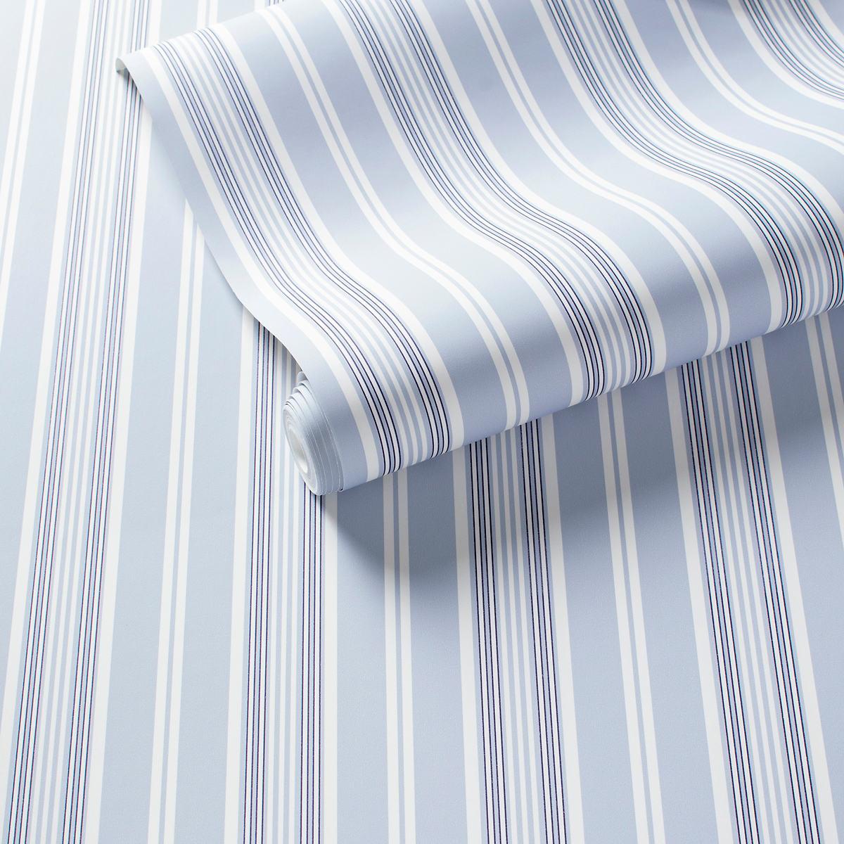 Emily Stripe Pale Blue Wallpaper