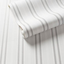 Emily Stripe Pale Grey Wallpaper