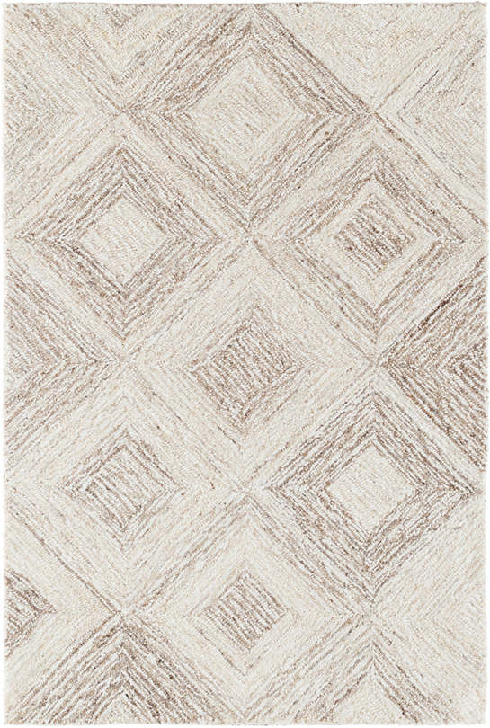 Escher Natural Micro Hooked Viscose/Wool Rug