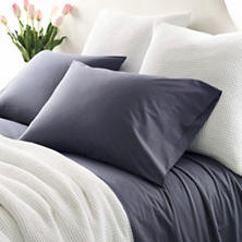Essential Percale Blue Fitted Sheet