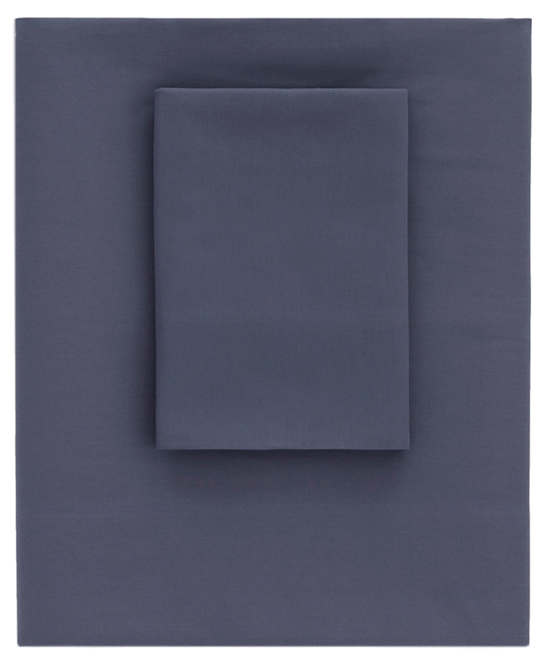 Essential Percale Blue Flat Sheet