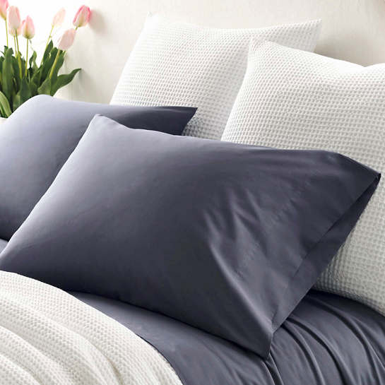 Essential Percale Blue Pillowcases