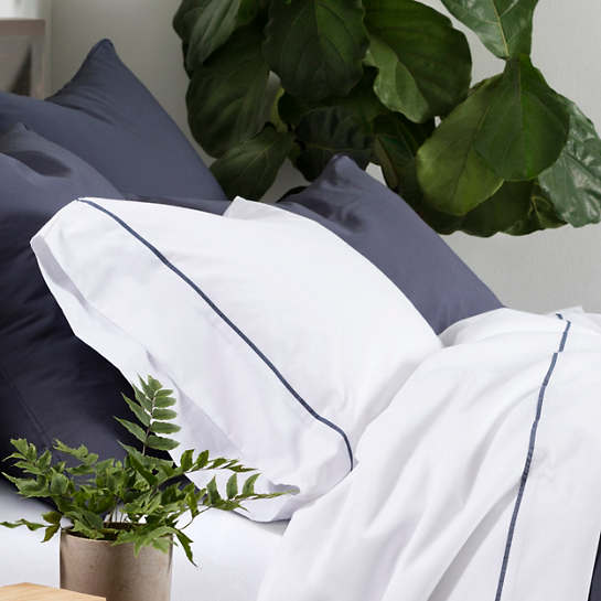 Essential Percale Blue Sham
