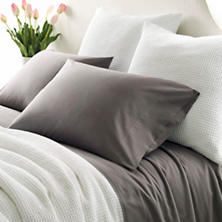 Essential Percale Grey Fitted Sheet