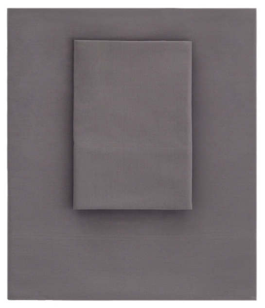 Essential Percale Grey Flat Sheet